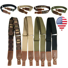 Retro Canvas Leather Hunting Rifle Shotgun Sling Straps Shoulder Carry Strap USA