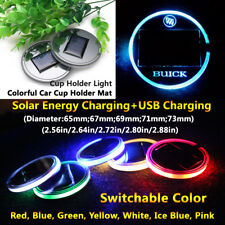1pcs Solar Energy Coaster Car LED Light Lamp Accessories For Buick Lights Parts