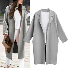 Womens Thicken Warm Winter Wool Trench Coat Parka Overcoat Long Jacket Outwear