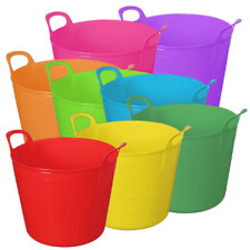 26 LITRE FLEXI TUB PLASTIC FLEXIBLE BUCKET TUBS STORAGE CONTAINER TRUG NEW