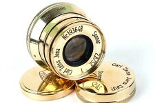 ⭐ Sonnar ⭐ Carl Zeiss Jena gold 2.8/52mm M39 lens for Leica ( replica ) Excelent