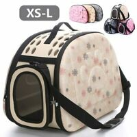 Puppy Pet Dog Cat Carrier Bag Portable Travel Handbag Tote Crate Bag Kennel Box