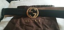 Mens gucci belt black