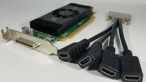 Dell NVIDIA Quadro NVS 420 SFF Slim VHDCI QUAD HDMI X4 Monitor Video Card Win 10