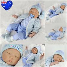 """AU 22"""" 55CM SILICONE REBORN DOLL REAL LIFE LIKE LOOKING NEWBORN BABY BOY DOLLS"""