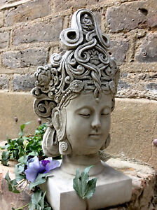 Beautifully Detailed Thai Buddhas Head Statue For The Home Or Garden. From Sius