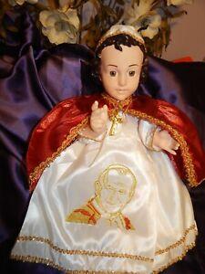 nino dios/baby Jesus Hermoso Vestido del Papa Juan Pablo II medidas en cms