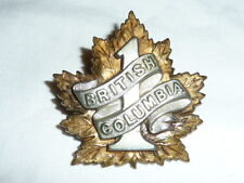 Canada - WW1 - 7th Bn CEF - Cap Badge - 1st British Columbia Regiment - Officers