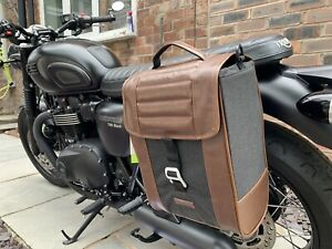 Shad Cafe Racer Panniers and Brackets For Triumph Bonneville T100 / Luggage