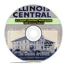 Illinois Central Employees Magazine, Vintage Railroad Life Magazine, PDF DVD C88