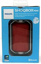 NEW Philips SHOQBOX Mini Waterproof Bluetooth Speaker RED BT2200R/27 wireless