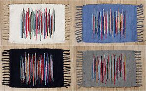 Cotton Chindi Rug Living Gust Room Rug Indian Mat Carpet Door Floor Rug Boho