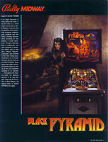 Bally BLACK PYRAMID Pinball Machine Flyer Original NOS 1984 Promo Art Game Sheet