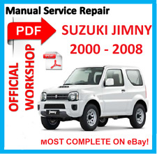 #OFFICIAL WORKSHOP MANUAL service repair FOR Suzuki JIMNY SN413 SN415D 2000-2008