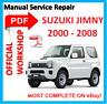 #OFFICIAL WORKSHOP MANUAL service repair FOR Suzuki JIMNY SN413 SN415D 2000-2008