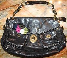 COACH Authentic $658 LEIGH LEGACY Limited Edition Black Leather Hobo Purse Bag