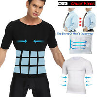 Men's Seamless Slimming Body Shaper Vest Abdomen T-Shirt Compression Sport Top