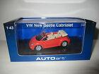VW NEW BEETLE CABRIO 59753 AUTOART SCALA 1:43
