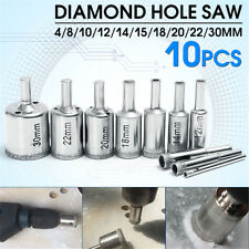 10× Diamond Hole Saw 8-50mm Drill Bit Set Tool Tile Ceramic Marble Glass Granite