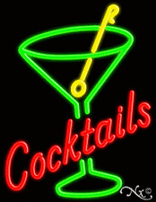 """Brand New """"Cocktails"""" 31x24 W/Logo Real Neon Sign w/Custom Options 10439"""