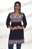 Indian Women's Kurta Designer Ethnic Regular Top Tunic Elephant print plus size