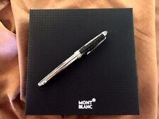 Montblanc Meisterstuck Solitaire Carbon & Steel Medium Fountain Pen  #05827~NIB