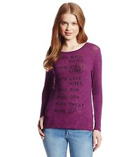 $36 Fox Racing Women's Decide Pullover Knit Sweater Open Back Berry Punch Size S