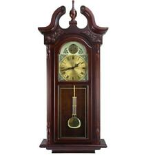 Bedford Clock Collection 38grand Antique Colonial Chiming Wall Clock With Roman