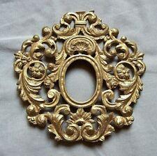 antico Reliquiario in bronzo dorato 18 cm '800 motivi floreali ,no reliquia