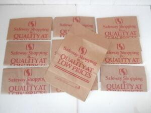 Vintage SUPERMARKET Food Advertising SAFEWAY Thick Brown Paper Bag Ephemera VGC