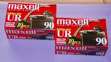 Lot of 20 Maxell UR90 Blank Audio Cassette Tapes (90 Minutes) -- New Sealed