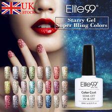 Elite99 Smalto Semipermanente Glitter Nail Polish UV Soak Off Gel Unghie 10ml