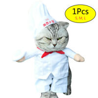Pet Dog Cat Chef Cook Halloween Party Fancy Dress Costume Outfit Clothes S-L