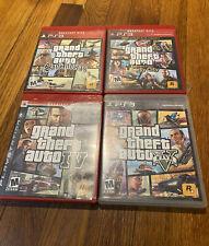 Grand Theft Auto Ps3 Lot Of 4 Games Iv, V, San Andreas, Liberty City