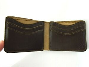 Saddleback Leather OLD STYLE MEDIUM BIFOLD WALLET Dark Brown DCB