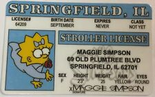 Maggie Simpson - The Simpsons - Springfield, Drivers License - Novelty