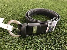 Nike Golf Ladies G Flex Leather Golf Belt Black Silver Women's Multi SZ NWT!