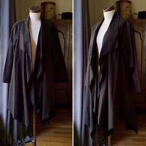 LAFAYETTE 148 NWT Black Cotton Open Collar Jacket XL