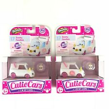 Shopkins Cutie Cars #17 Zoomy Noodles SET OF 2 Diecast (1 Decal & 1 No Decal)