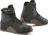 Scarpe moto Tcx District WP gunmetal brown shoes impermeabili waterproof