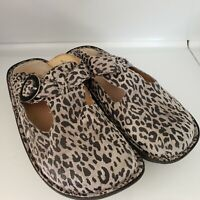 Alegria By PG Lite Womens Comfort Classic Clog Animal Print Size 38