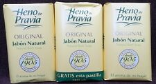 Heno de Pravia Natural Bath Soap Made by Antonio Puig Spanish 3 BARS x 115g