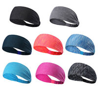 New Women Wide Sports Headband Stretch Elastic Yoga Running Headwrap Hair Band