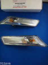 PORSCHE 2005 -12  997 GT 3  GTS TURBO S NEW FRONT CLEAR SIDE MARKER LIGHTS R & L