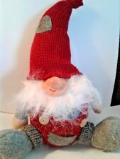 Scandinavian Sitting Nisse Gnome in Red Hat, NEW