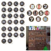 Retro Cabinet Door Drawer Dresser Handle Pull Knob Letters & Numbers Pattern