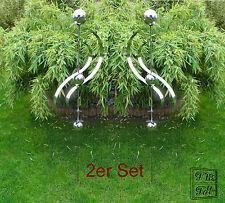 2er Set Edelstahlstele Gartenstecker Edelstahl Gartendeko Skulptur NEU 2 Stück