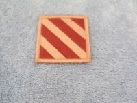 US Army 3rd Division Patch: Tan