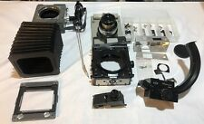 Vintage Universal Mamiya Camera Parts Lot Bellow Handle Mount Stand Lens 23 Body
