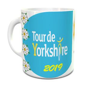 Tour de Yorkshire 2019 11oz Ceramic Mug, Tour de France Comes to Yorkishire map